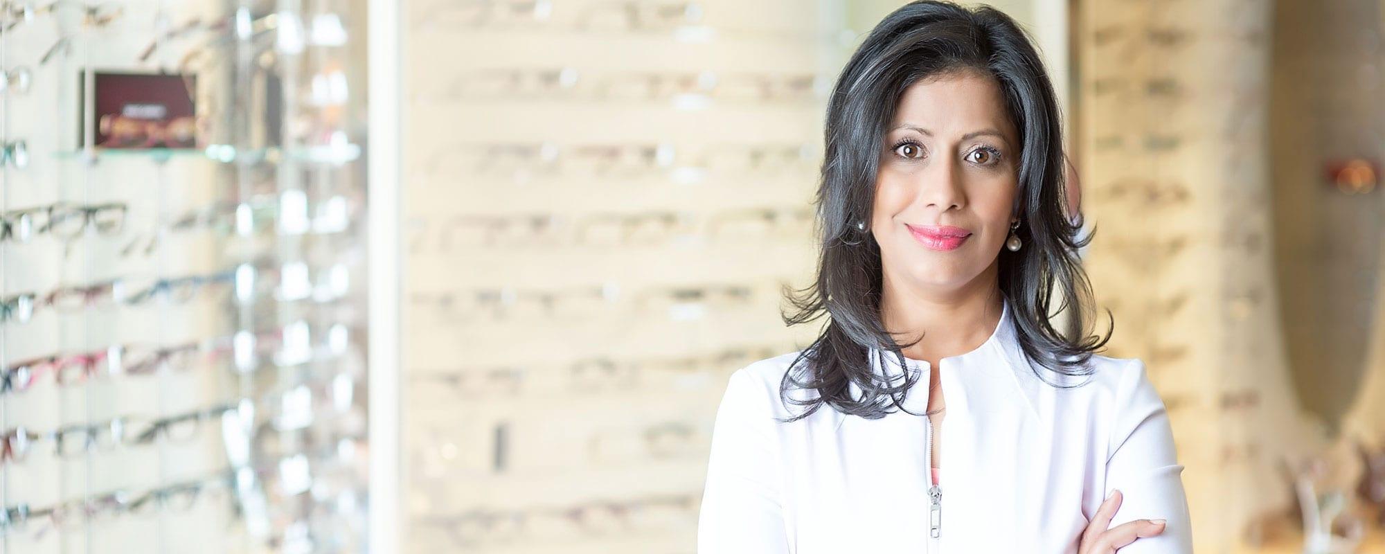 <span>Dr. Sabrina Ahmed</span> <br />Mississauga Optometrist